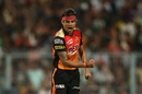 Siddarth Kaul is pumped up after dismissing Sunil Narine, Kolkata Knight Riders v Sunrisers Hyderabad, IPL 2018, Qualifier 2, Kolkata, May 25, 2018
