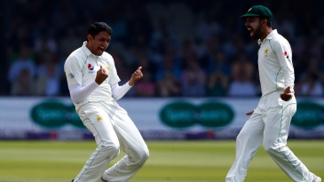 Mohammad Abbas is ecstatic after picking up a wicket