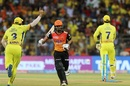 Shreevats Goswami was run out early, Chennai Super Kings v Sunrisers Hyderabad, IPL 2018 final, Mumbai, May 27, 2018