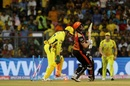 Kane Williamson is distraught after losing his wicket, Chennai Super Kings v Sunrisers Hyderabad, IPL 2018 final, Mumbai, May 27, 2018
