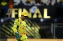 MS Dhoni reacts in the field, Chennai Super Kings v Sunrisers Hyderabad, IPL 2018 final, Mumbai, May 27, 2018