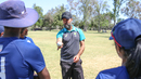 Former Canada captain John Davison shares spin philosophies with USA players, Los Angeles, April 22, 2018