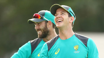 Tim Paine during Australia's pre-series training camp