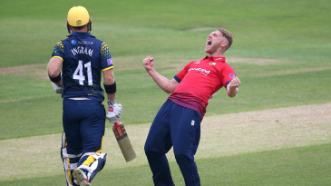 Jamie Porter caused Glamorgan plenty or problems