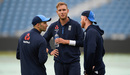 Stuart Broad chats with Mark Wood and Ben Stokes, Headingley, May 30, 2018
