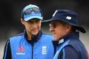 Joe Root and Trevor Bayliss ahead of the second Test, Headingley, May 31, 2018