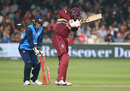 Chris Gayle was bowled by Shoaib Malik, World XI v West Indies XI, Lord's, May 31, 2018