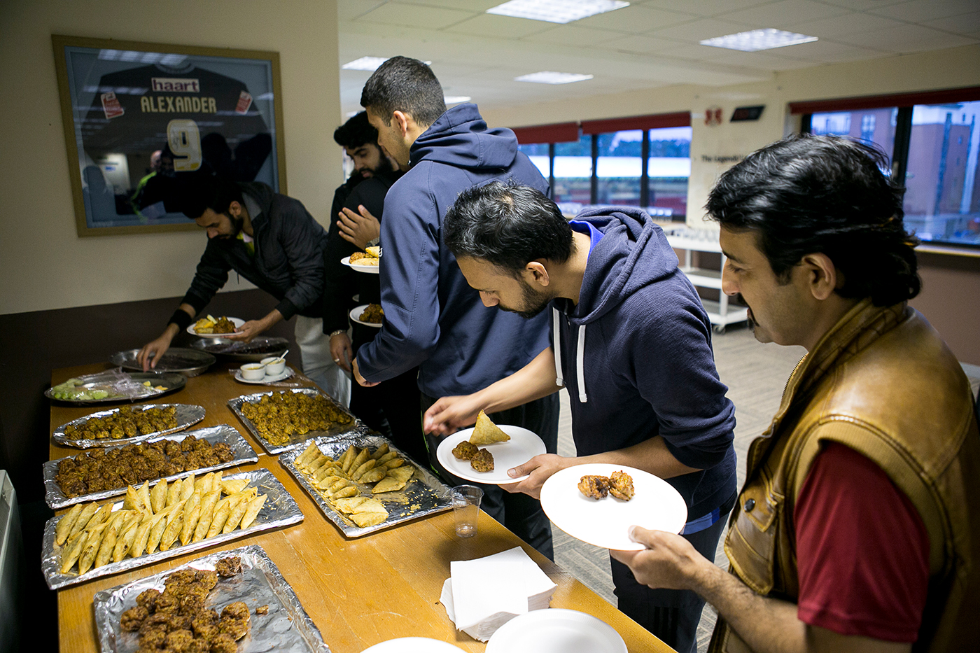 Not quite sarnies and tea: for tape-ball, it's samosas and pakoras all round