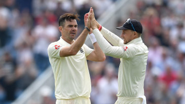 James Anderson was in the wickets on the first day