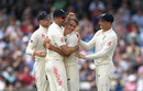 Sam Curran claimed his first Test wicket when he removed Shadab Khan, England v Pakistan, 2nd Test, Headingley, June 1, 2018