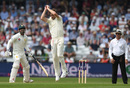 Chris Woakes grabbed a caught and bowled to remove Hasan Ali, England v Pakistan, 2nd Test, Headingley, June 1, 2018