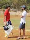Prithvi Shaw and Ajinkya Rahane have a chat, Mumbai, June 2, 2018