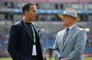 Michael Vaughan and TMS colleague Geoffrey Boycott, England v Pakistan, 2nd Test, Headingley, 1st day, June 1, 2018