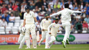Joe Root was extracted by Mohammad Amir