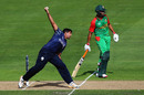 Majid Haq bowls, Bangladesh v Scotland, World Cup 2015, Group A, Nelson, March 5, 2015