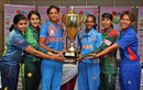 The captains of the six teams pose with the Asia Cup trophy, Women's T20 Asia Cup 2018, May 2, 2018, Kuala Lumpur