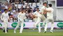 Sam Curran removed Shadab Khan, England v Pakistan, 2nd Test, Headingley, June 3, 2018