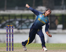 Nilakshi de Silva hits her delivery stride, Malaysia v Sri Lanka, Women's T20 Asia Cup 2018, June 4, 2018, Kuala Lumpur