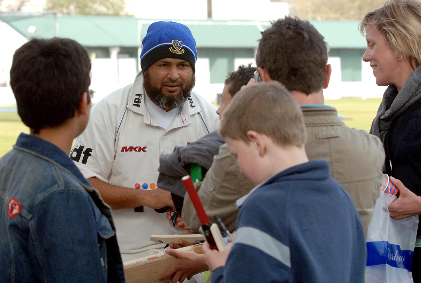 The portly ambassador: Mushy chats with Sussex fans in 2007