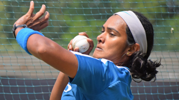 Shikha Pandey sizes up her target area
