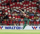 Tamim Iqbal swivels into a pull, Afghanistan v Bangladesh, 2nd T20I, Dehradun