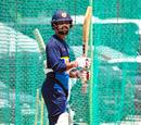 Mahela Udawatte reacts during a nets session, West Indies v Sri Lanka, 1st Test, Port of Spain, June 5, 2018