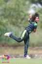 Nida Dar sends one down, Pakistan v Sri Lanka, Women's Twenty20 Asia Cup, Kuala Lumpur, June 6, 2018