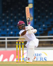 Shai Hope leans into a cover drive, West Indies v Sri Lanka, 1st Test, Day 1, Port of Spain, June 6, 2018