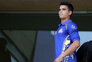 Arjun Tendulkar also came to watch the IPL match, Mumbai Indians v Delhi Daredevils, IPL 2018, Mumbai, April 14, 2018