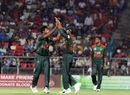 Abu Jayed celebrates a wicket, Afghanistan v Bangladesh, 3rd T20I, Dehradun, June 7, 2018