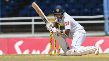 Dinesh Chandimal takes evasive action