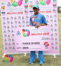 Ekta Bisht was adjudged Player of the Match, India v Pakistan, Women's T20 Asia Cup 2018, Kuala Lumpur, June 9, 2018