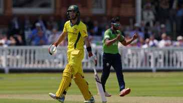 Glenn Maxwell was lbw to Ravi Patel for 3