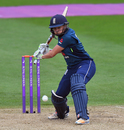 Laura Marsh shapes to play the ball, England v South Africa, 1st women's ODI, Worcester