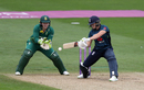 Katherine Brunt rocks back to cut, England v South Africa, 1st women's ODI, Worcester