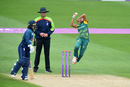 Shabnim Ismail leaps into her delivery stride, England v South Africa, 1st women's ODI, Worcester