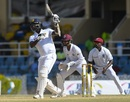 Angelo Mathews plays a one-handed shot, West Indies v Sri Lanka, 1st Test, Port of Spain, 4th day, June 9, 2018