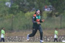 Jahanara Alam is overjoyed after taking a wicket, India v Bangladesh, women's Asia Cup final. Kuala Lumpur