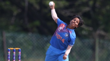 Poonam Yadav in her delivery stride