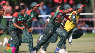 Bangladesh women wheel away after winning the Asia Cup