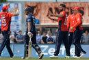 Matt Cross was removed by Liam Plunkett, Scotland v England, Only ODI, Edinburgh, June 10, 2018