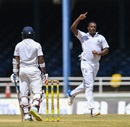 Shannon Gabriel was rewarded with the wicket of Kusal Mendis, West Indies v Sri Lanka, 1st Test, Port of Spain, 5th day, June 10, 2018