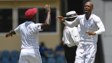 Roston Chase struck twice at the stroke of lunch