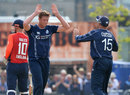 Alasdair Evans and kyle Coetzer combined to remove Eoin Morgan, Scotland v England, Only ODI, Edinburgh, June 10, 2018