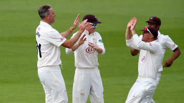 Rikki Clarke (left) ran through Hampshire with five wickets