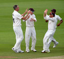 Rikki Clarke (left) ran through Hampshire with five wickets, Hampshire v Surrey, Specsavers Championship, Division One, Ageas Bowl, June 10, 2018