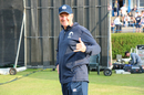 Scotland coach and big wave surfer Grant Bradburn throws up the 'shaka' after the win, Scotland v England, only ODI, Edinburgh, June 10, 2018