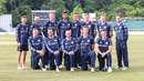 Scotland's squad poses for a celebratory photo after a historic win, Scotland v England, only ODI, Edinburgh, June 10, 2018