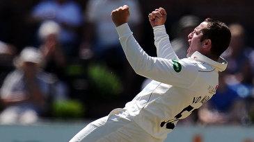 Roelof van der Merwe celebrates a breakthrough