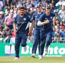 Hamza Tahir is all smiles after taking a catch at short fine leg, Scotland v Pakistan, 1st T20I, Edinburgh, June 12, 2018